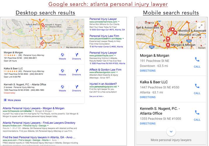google local mobile desktop