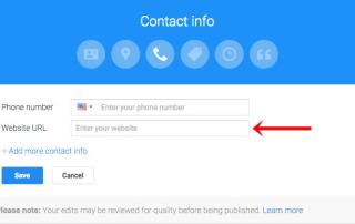 Google Maps Listing URL Field