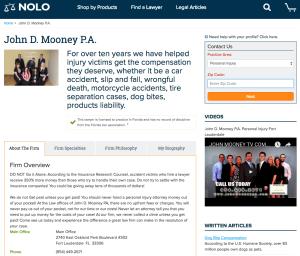 improve nolo attorney profile