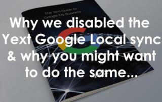 Yext Google Local Sync