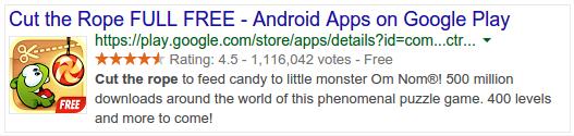 Apps Schema JSON Voice Search
