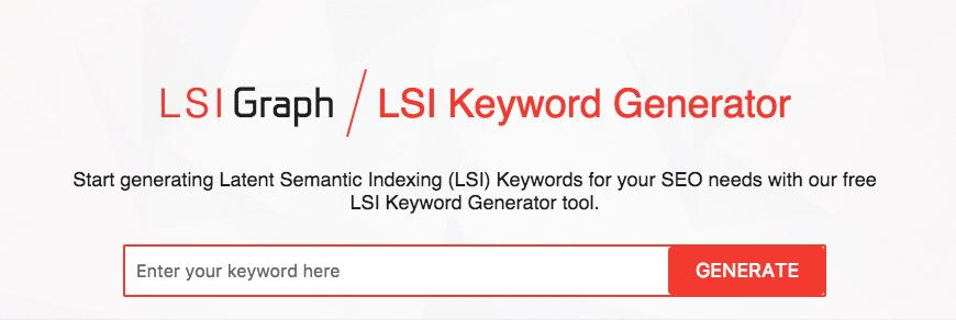 LSI Graph Keyword Research
