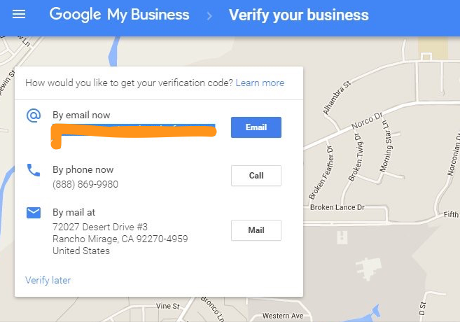 Verify Google My Business