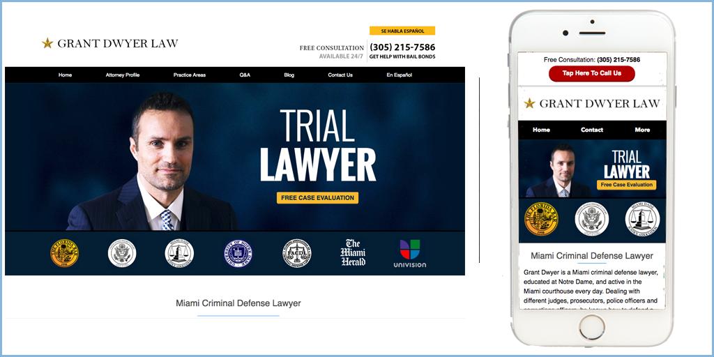 Grant Dwyer Law Website