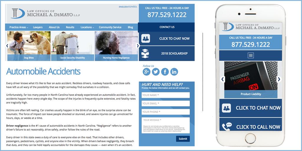 Michael A DeMayo Law Firm Website